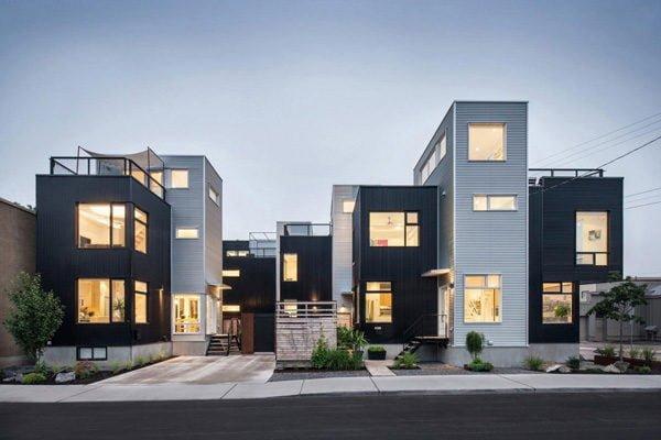 156 Hintonburg Six: Ngôi nhà hình khối độc đáo tại Canada qpdesign