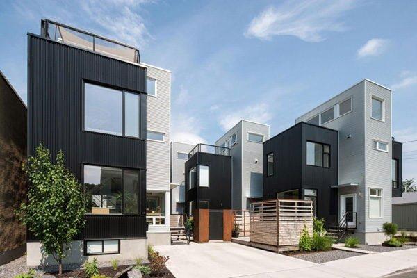 211 Hintonburg Six: Ngôi nhà hình khối độc đáo tại Canada qpdesign
