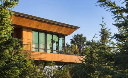 Golden View Residence: Biệt thự hiện đại trên núi tại Alaska