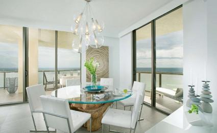 Nội thất tinh tế và sang trọng của căn hộ chung cư ven biển