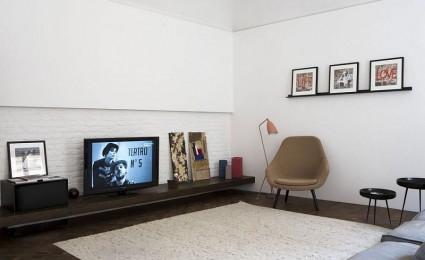 Nội thất căn hộ thanh lịch với tông màu đen – trắng