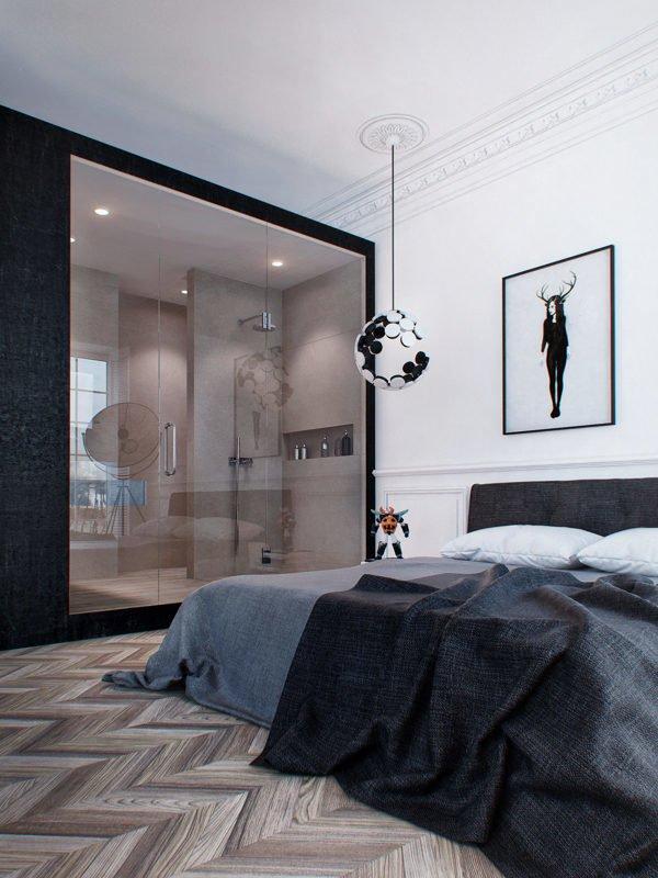 1035 Căn hộ một phòng ngủ với thiết kế lôi cuốn tại Nga qpdesign