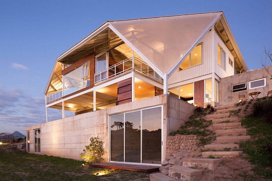 1044 Biệt thự nghỉ dưỡng ấn tượng với mái nhà độc đáo qpdesign