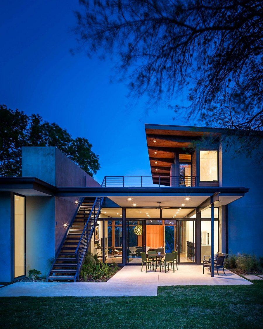 Ngôi nhà hoàn hảo kết hợp giữa hai vật liệu gỗ và thép