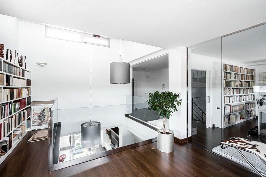 Thiết kế nhà ở phong cách hiện đại với tông màu trắng