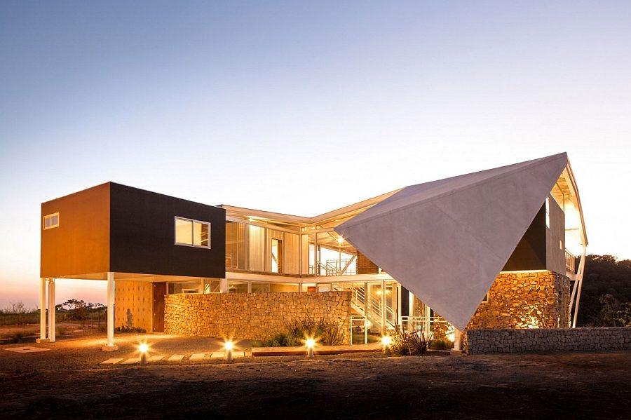 1433 Biệt thự nghỉ dưỡng ấn tượng với mái nhà độc đáo qpdesign