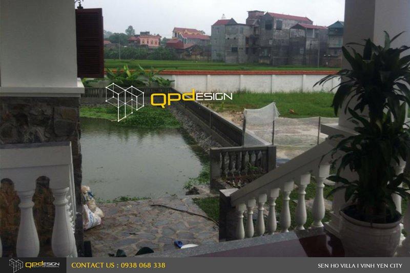 1518 Thiết kế   Thi công biệt thự Sen Hồ qpdesign