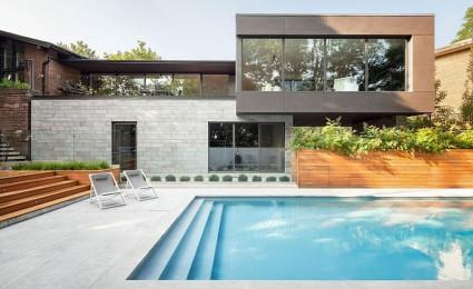Ngôi nhà một tầng được mở rộng thành biệt thự hồ bơi sang trọng
