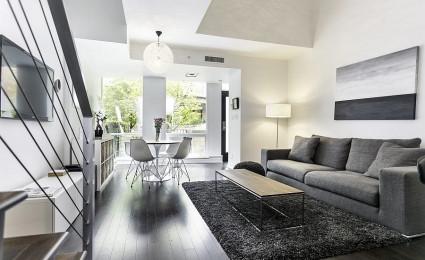 Thiết kế nhà phố thanh lịch và đơn giản với tông màu đen – trắng