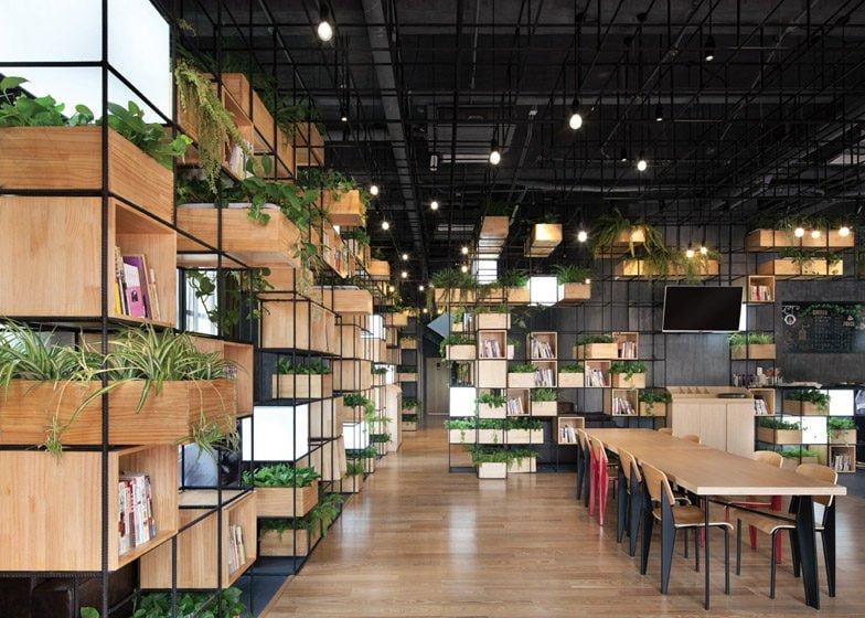 277 Thiết kế cafe xanh ấn tượng và thân thiện với môi trường qpdesign