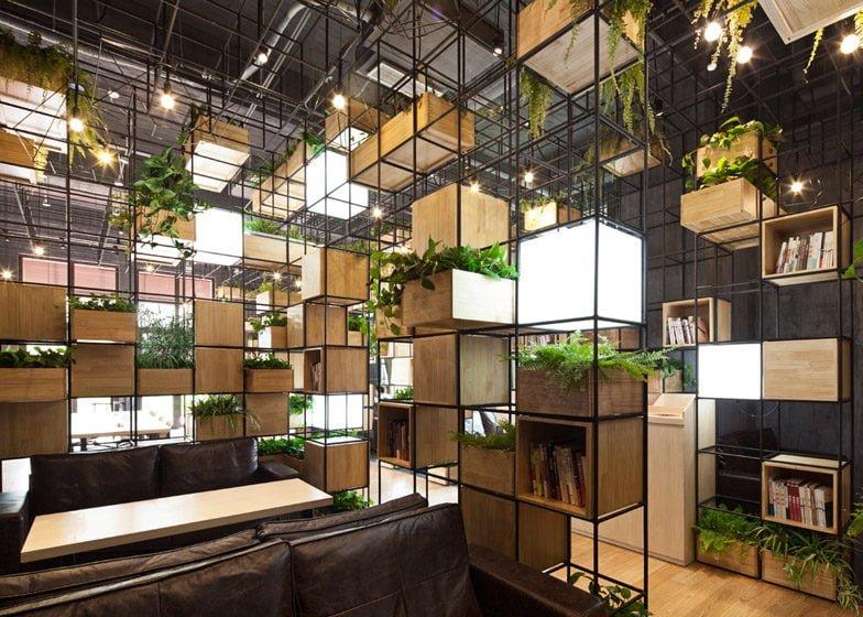 364 Thiết kế cafe xanh ấn tượng và thân thiện với môi trường qpdesign