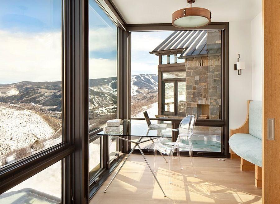 Biệt thự nghỉ dưỡng hiện đại trên núi tuyết