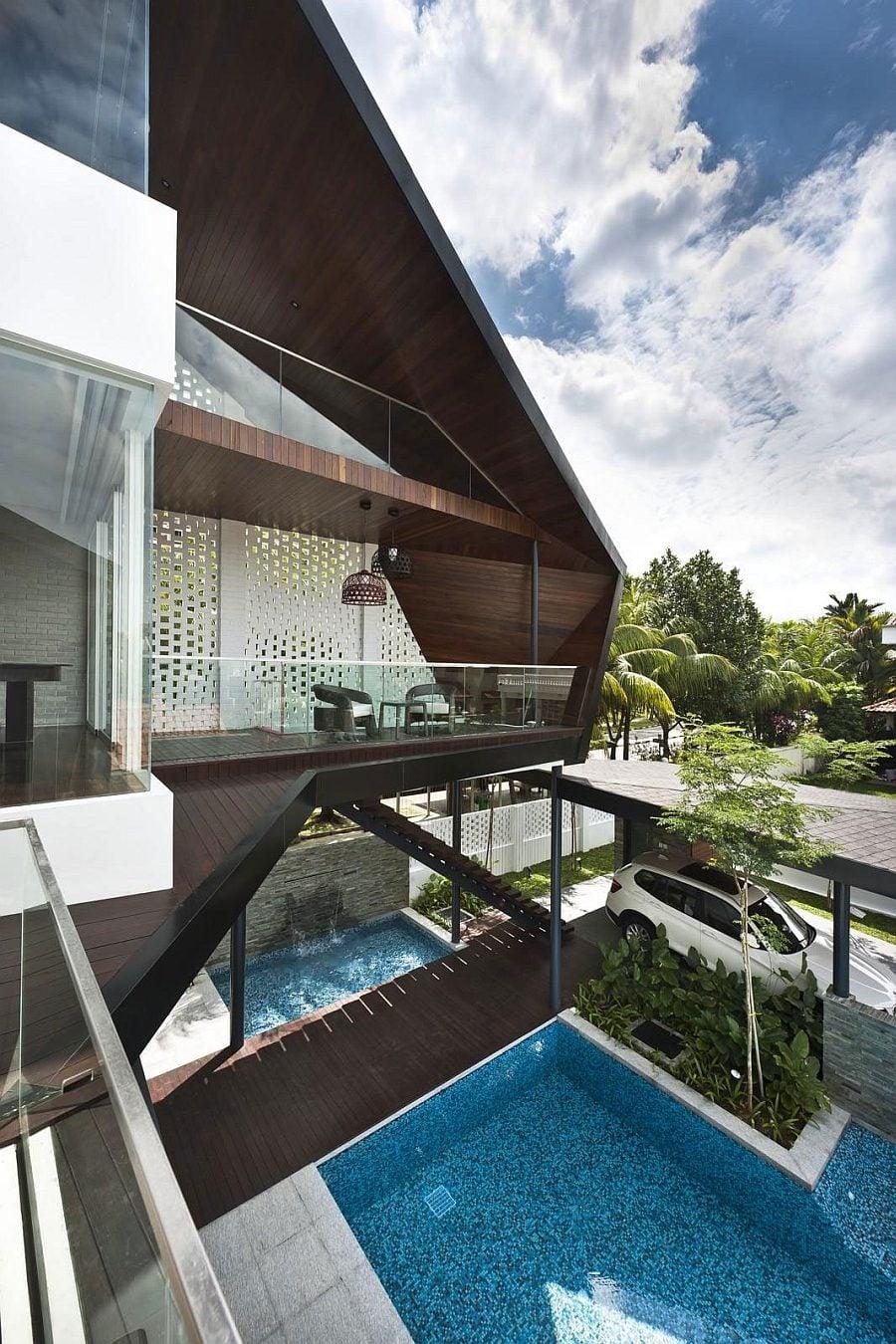 1323 Thiết kế nhà ở hiện đại và lôi cuốn tại Singapore qpdesign