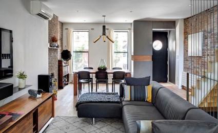 Cải tạo nội thất nhà phố tại New York thành một không gian sành điệu
