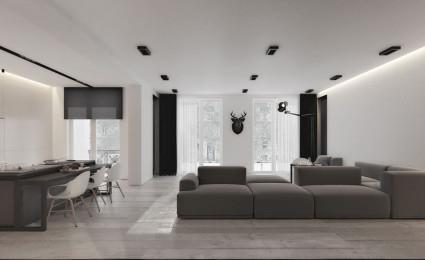 Ngôi nhà không gian mở với thiết kế tối giản