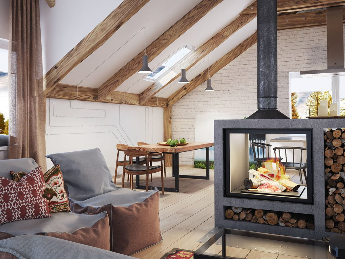1711 4 thiết kế phòng áp mái hiện đại và độc đáo qpdesign