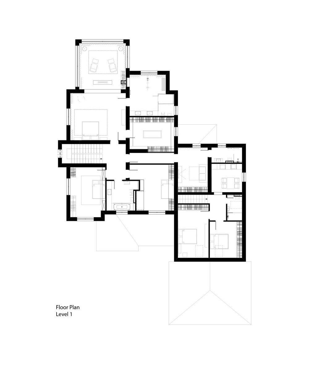 Ngôi nhà hai tầng lầu với thiết kế hiện đại và sang trọng