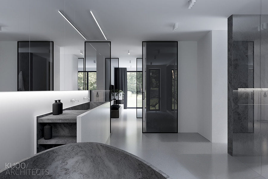 Ngôi nhà nổi bật với lối thiết kế tối giản và sang trọng