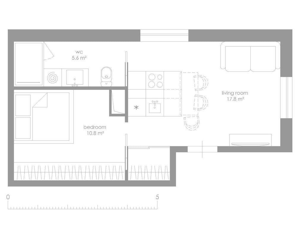 mẫu căn hộ siêu nhỏ 26