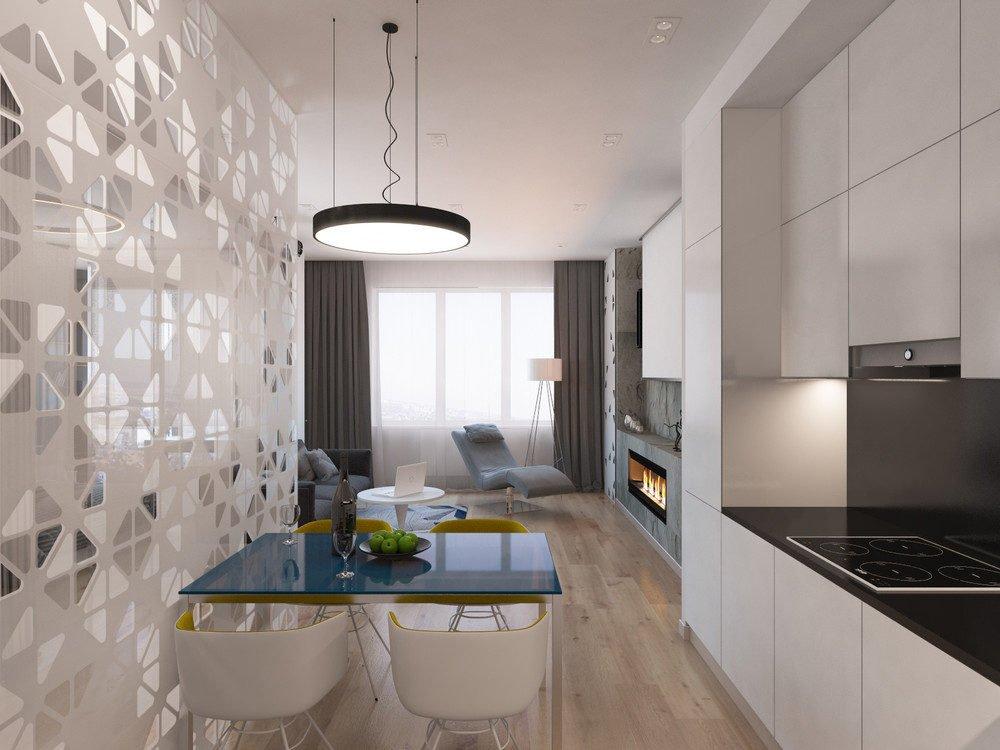 4 mẫu căn hộ dưới 50m2 sử dụng họa tiết hình học làm điểm nhấn