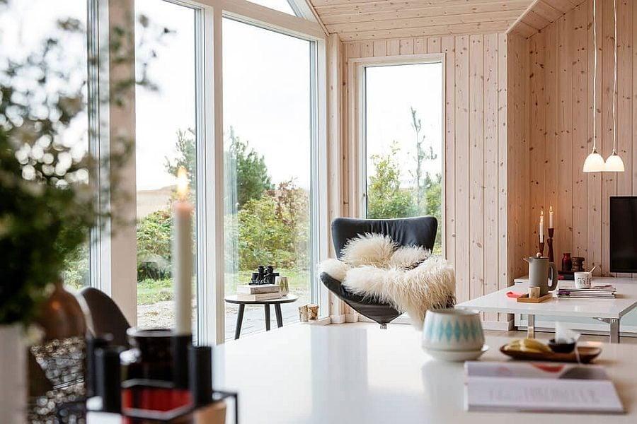 Ngôi nhà kết hợp phong cách hiện đại với phong cách Scandinavian