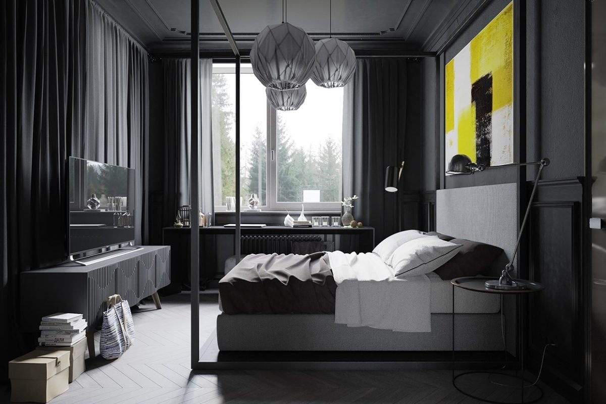 dark-gray-bedroom-design