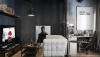 Thiết kế căn hộ tông màu xám đen tuyệt đẹp tại Nga
