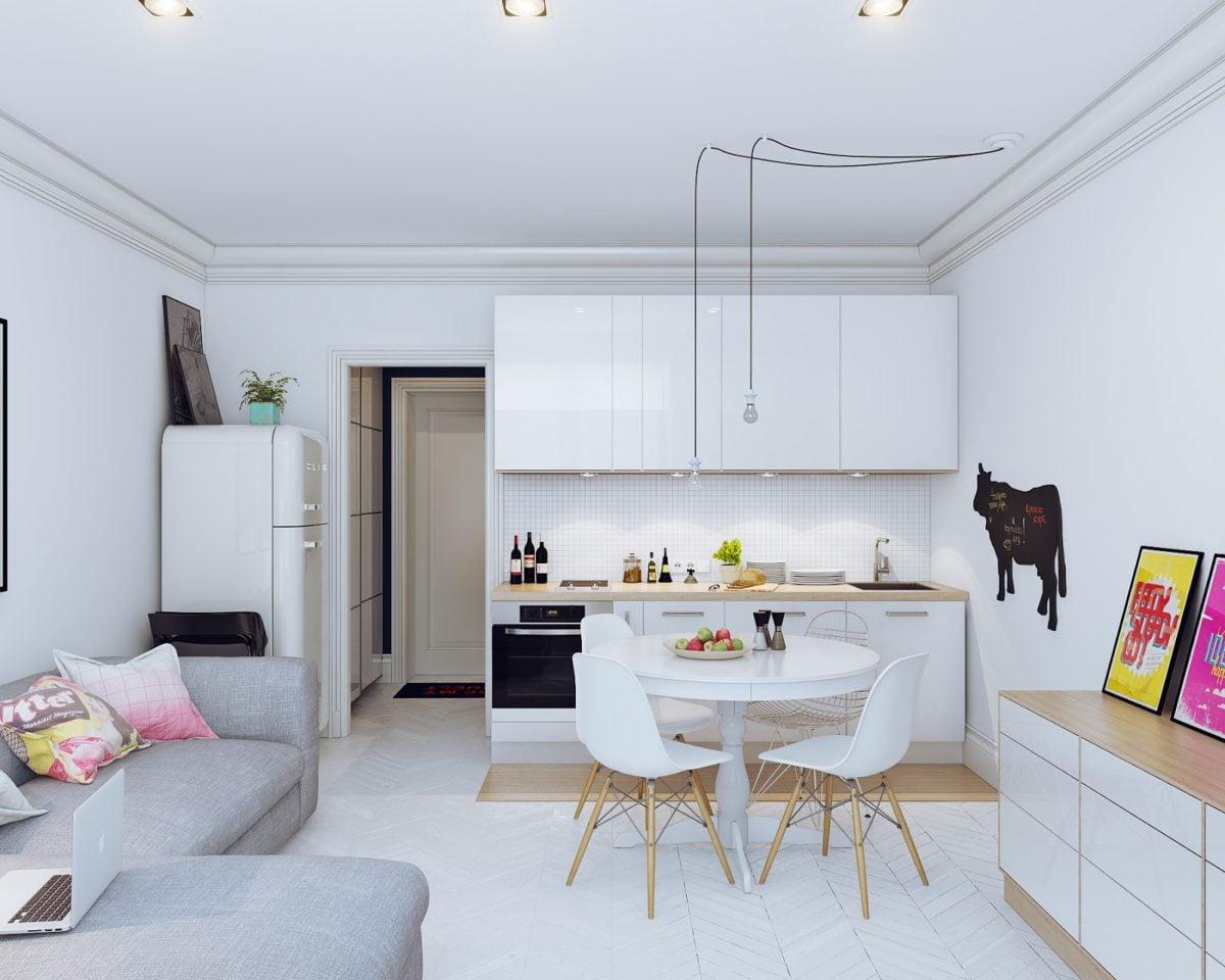 4 mẫu nội thất cho nhà ở có diện tích nhỏ