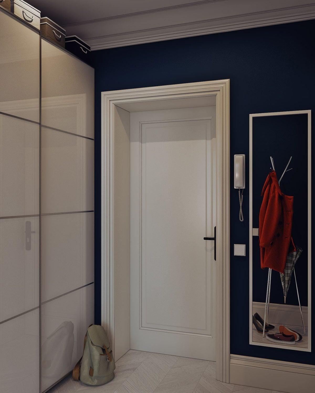 navy blue wall color 4 mẫu nội thất cho nhà ở có diện tích nhỏ qpdesign