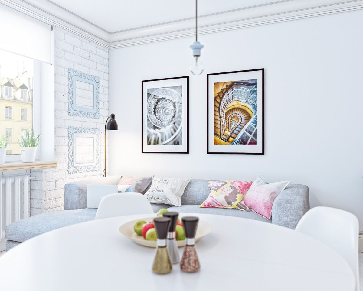pretty white decor 4 mẫu nội thất cho nhà ở có diện tích nhỏ qpdesign