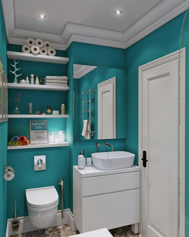 teal bathroom 4 mẫu nội thất cho nhà ở có diện tích nhỏ qpdesign