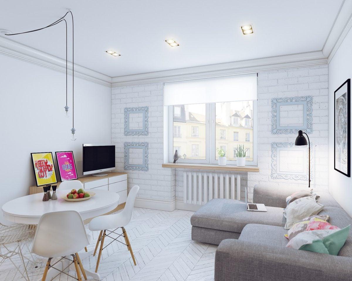 white apartment ideas 4 mẫu nội thất cho nhà ở có diện tích nhỏ qpdesign