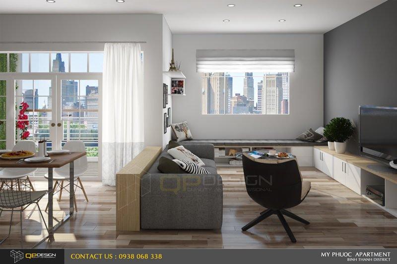 105 Thiết kế nội thất căn hộ chung cư Mỹ Phước 85m2 qpdesign