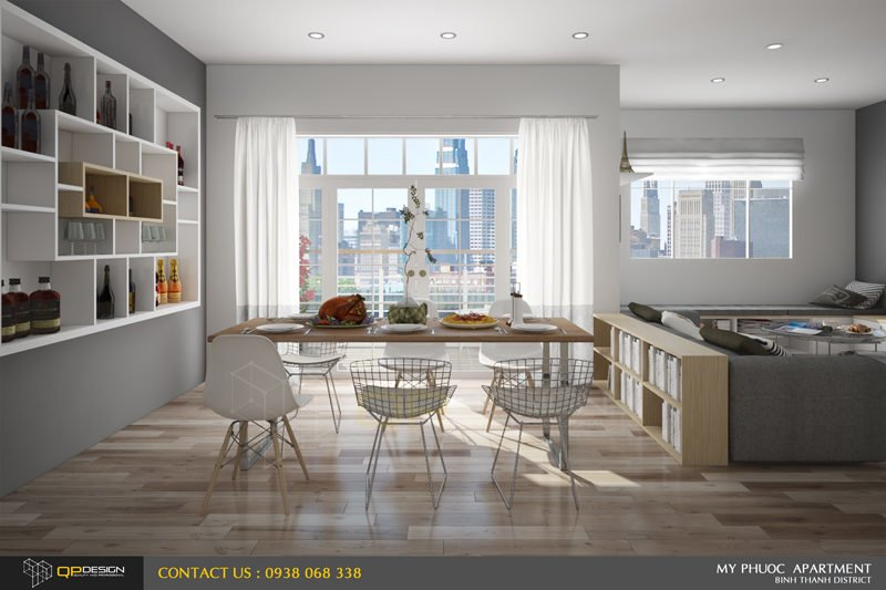 Thiết kế nội thất căn hộ chung cư Mỹ Phước 1