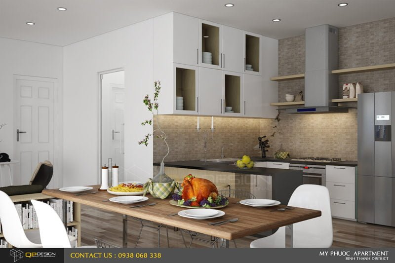 117 Thiết kế nội thất căn hộ chung cư Mỹ Phước 85m2 qpdesign