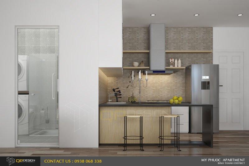 124 Thiết kế nội thất căn hộ chung cư Mỹ Phước 85m2 qpdesign