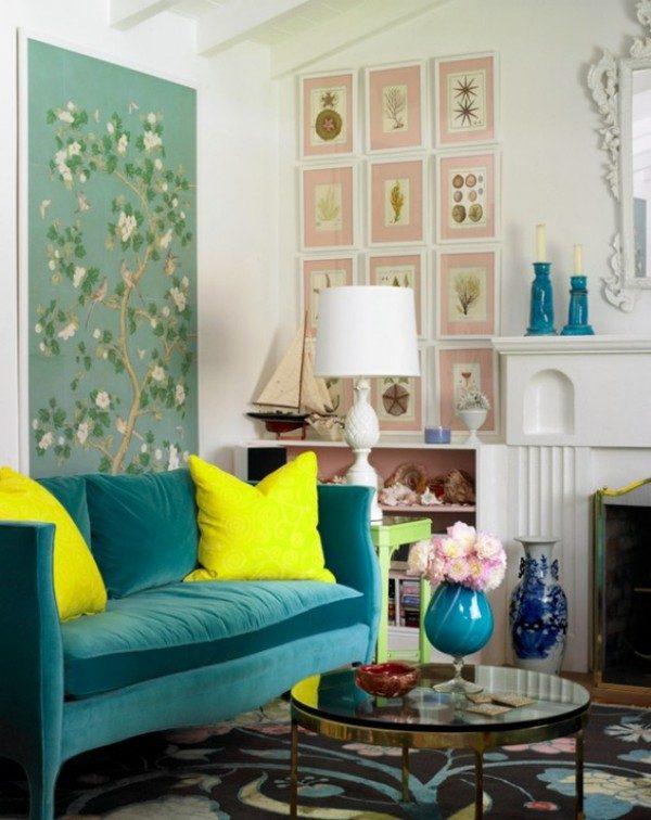 14 Nổi bật với ý tưởng màu neon cho phòng khách qpdesign