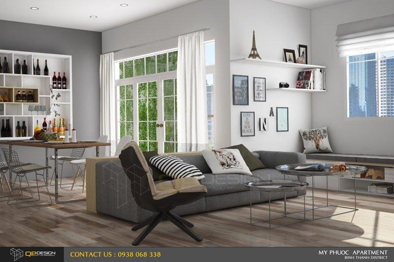 153 Thiết kế nội thất căn hộ chung cư Mỹ Phước 85m2 qpdesign