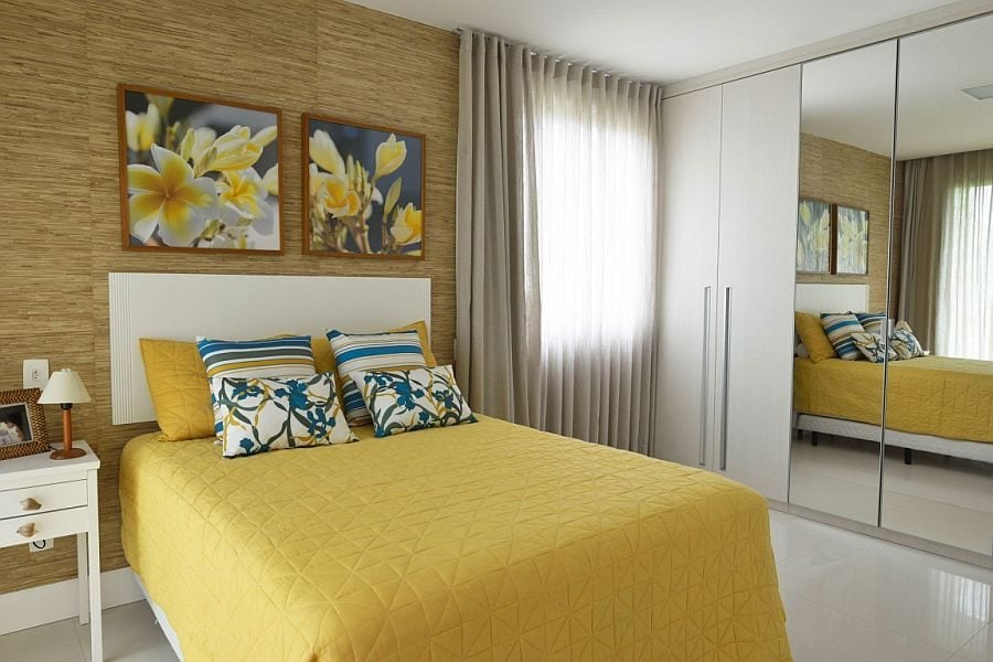 16Modern-bedroom-with-mustard-yellow-and-blue-accents