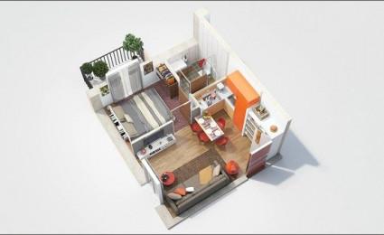 9 mẫu căn hộ một phòng ngủ tuyệt đẹp
