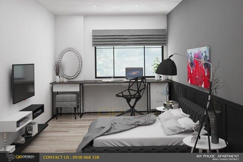 202 Thiết kế nội thất căn hộ chung cư Mỹ Phước 85m2 qpdesign