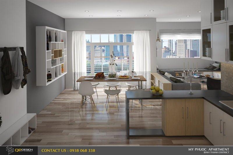 Thiết kế nội thất căn hộ chung cư Mỹ Phước 2
