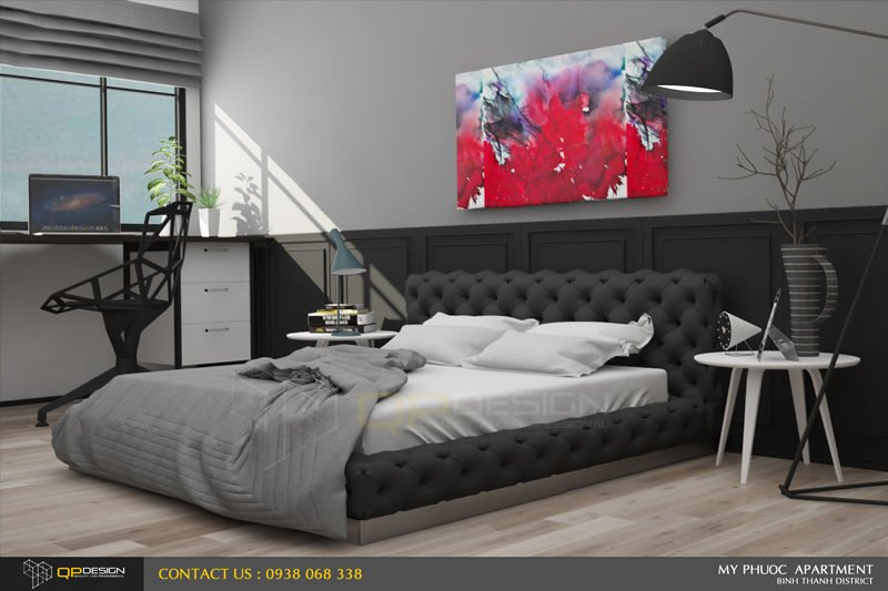 213 Thiết kế nội thất căn hộ chung cư Mỹ Phước 85m2 qpdesign