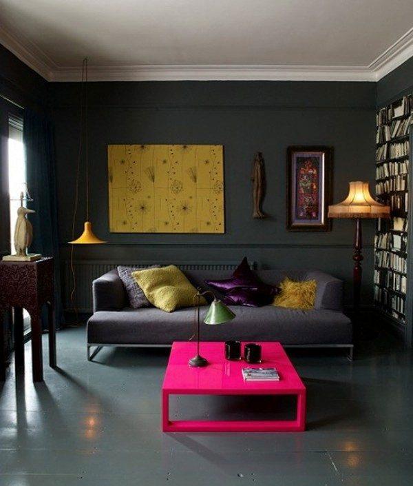23 Nổi bật với ý tưởng màu neon cho phòng khách qpdesign
