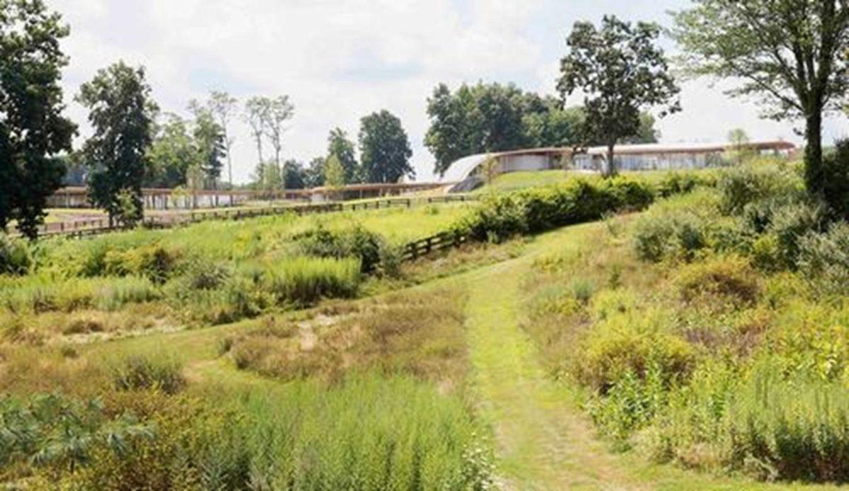 Khu bảo tồn thiên nhiên Grace Farms độc đáo với thiết kế uốn lượn