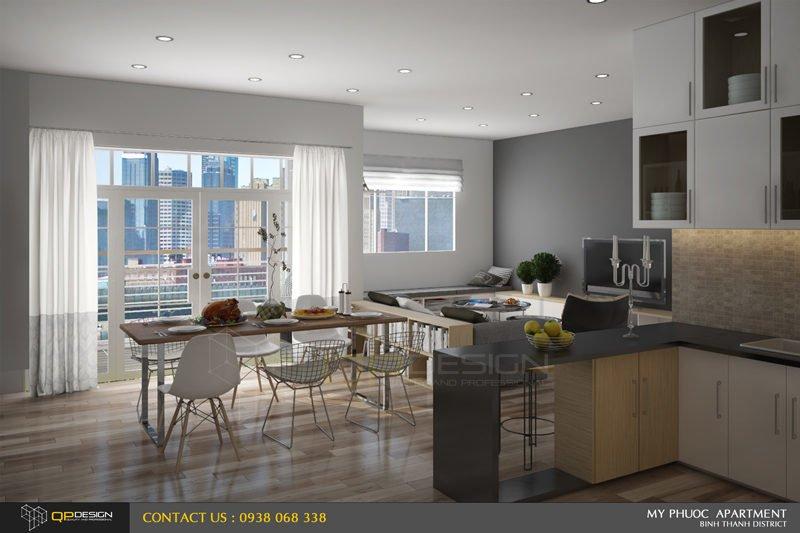 Thiết kế nội thất căn hộ chung cư Mỹ Phước 3