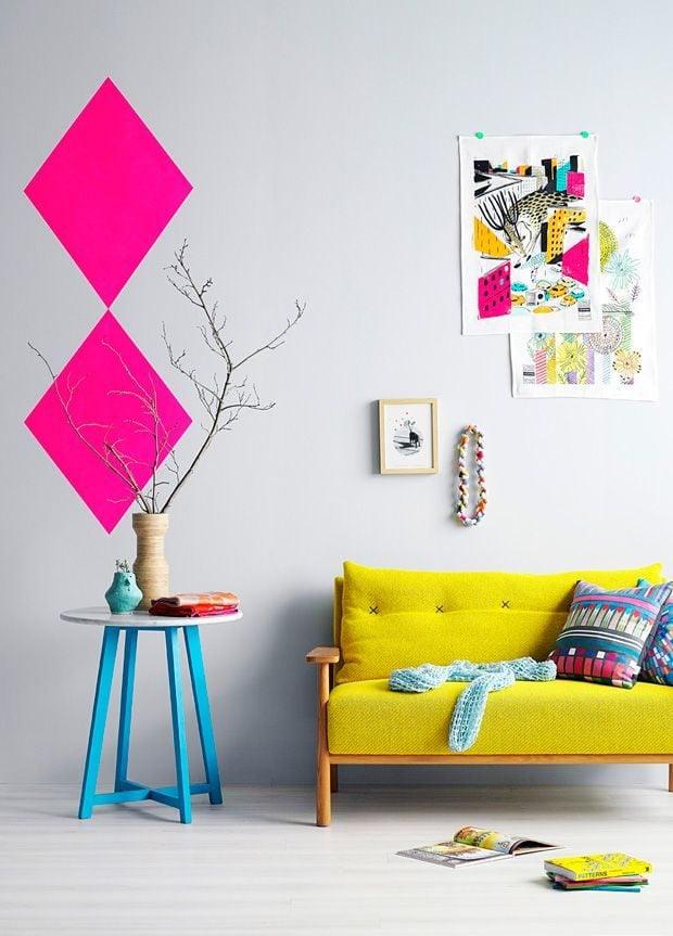 32 Nổi bật với ý tưởng màu neon cho phòng khách qpdesign
