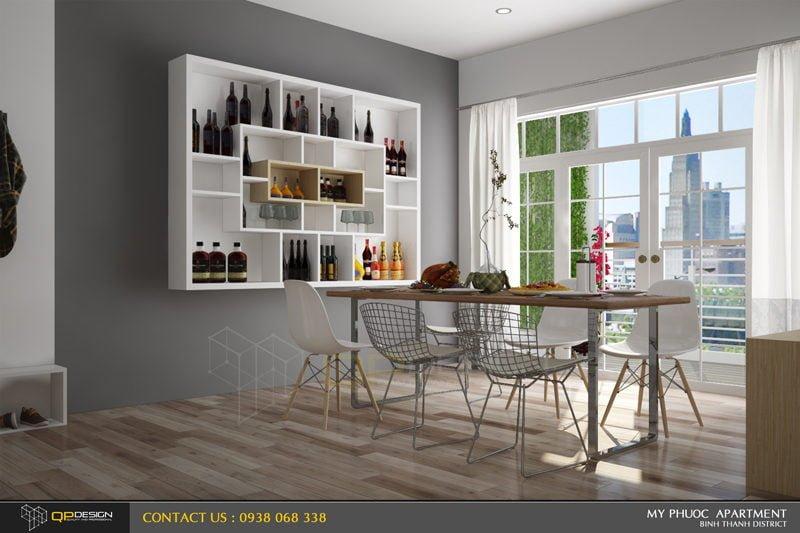 Thiết kế nội thất căn hộ chung cư Mỹ Phước 4