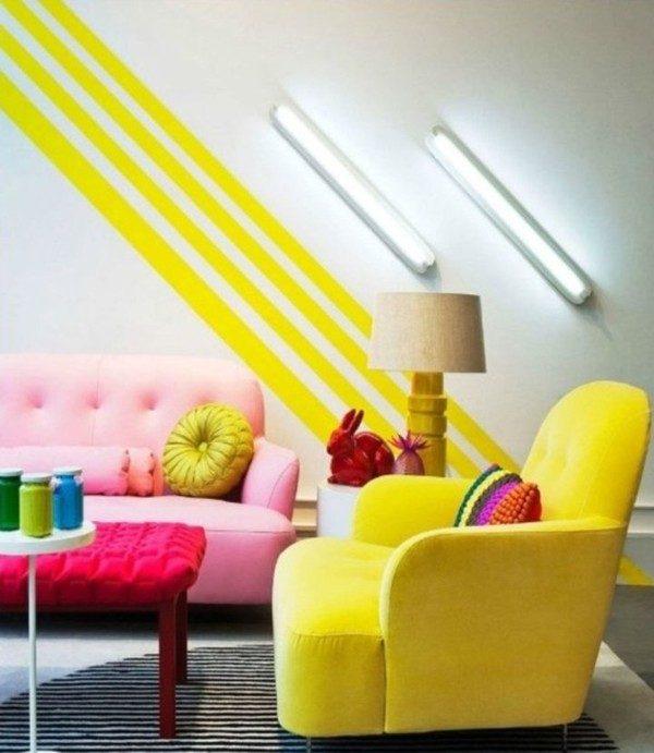 42 Nổi bật với ý tưởng màu neon cho phòng khách qpdesign