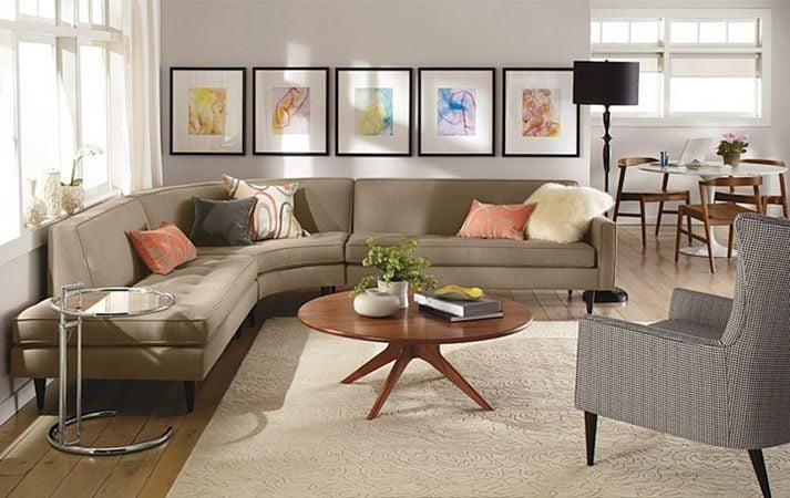 Thiết kế phòng khách nhỏ trở nên rộng rãi mà vẫn gọn gàng
